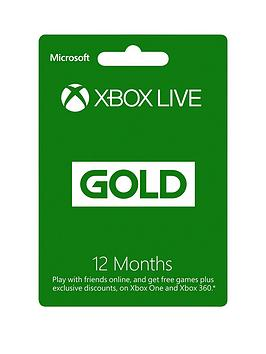 Xbox One 12 Months Xbox Live Gold Membership