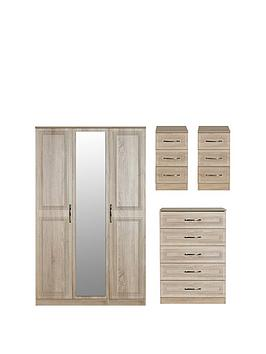 Swift Swift Winchester Part Assembled 4 Piece Package - 3 Door Mirrored  ... Picture