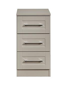 Swift Swift Larson Ready Assembled 3 Drawer Bedside Chest Picture