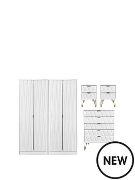 swift-versailles-ready-assembled-4-piece-package-4-door-wardrobe-5-drawer-chest-and-2-bedside-chests