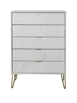swift-marbella-ready-assembled-5-drawer-chest