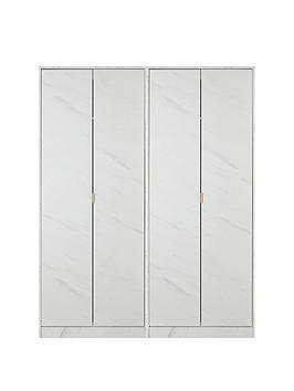 Swift Swift Marbella Part Assembled 4 Door Wardrobe Picture