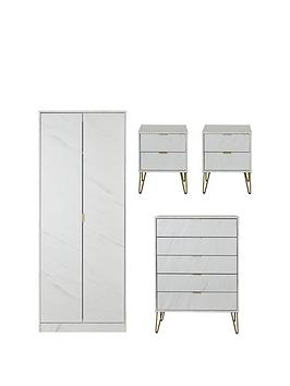 Swift Swift Marbella Ready Assembled 4 Piece Package - 2 Door Wardrobe, 5  ... Picture