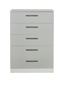 Swift Swift Montreal Gloss Ready Assembled 5 Drawer Chest Picture