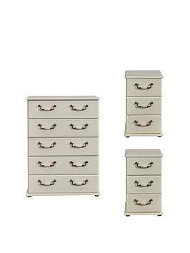 Swift Swift Broadway Ready Assembled 3 Piece Package - 5 Drawer Chest And  ... Picture