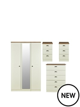 swift-charlotte-4-piece-ready-assembled-package-3-door-mirrored-wardrobe-5-drawer-chest-and-2-bedside-chests