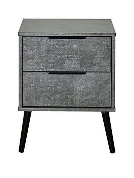 Swift Swift Berlin Ready Assembled 2 Drawer Bedside Chest With Integrated  ... Picture