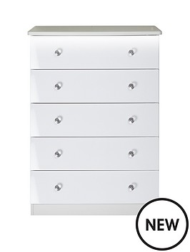 swift-lumiere-5-drawer-chest-with-lights-white-gloss