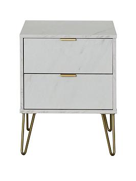 Swift Swift Marbella Ready Assembled 2 Drawer Bedside Table Picture