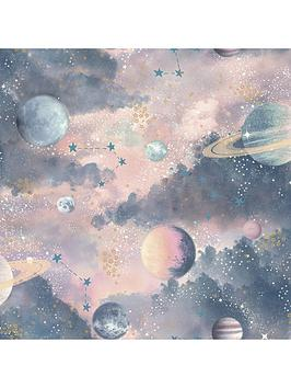 ARTHOUSE Arthouse Glitter Planets Wallpaper Picture