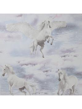 ARTHOUSE Arthouse Glitter Unicorn Kingdom Wallpaper Picture