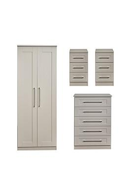 Swift Swift Larson Ready Assembled Package - 2 Door Wardrobe, 5 Drawer  ... Picture