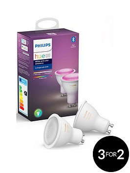 philips-hue-bt-white-and-colour-ambiance-gu10-with-optional-extra-bulb