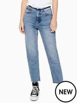 topshop-raw-waistband-straight-leg-jean