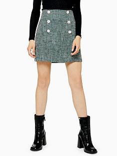 topshop-boucle-mini-skirt-green