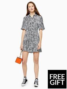 topshop-topshop-tall-animal-print-dress-monochrome
