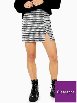 topshop-petite-button-split-mini-skirt-grey