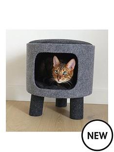 rosewood-charcoal-felt-cat-stool