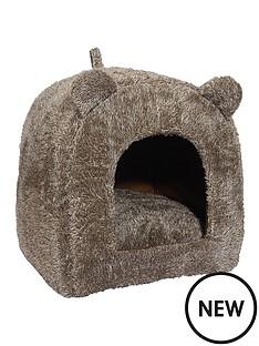 rosewood-brown-teddy-bear-cat-bed