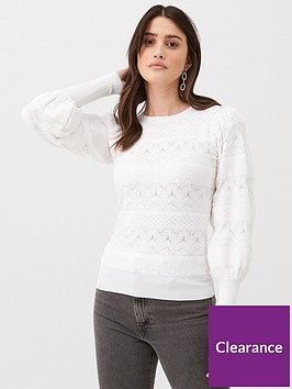 v-by-very-fine-gague-pointelle-jumper-white