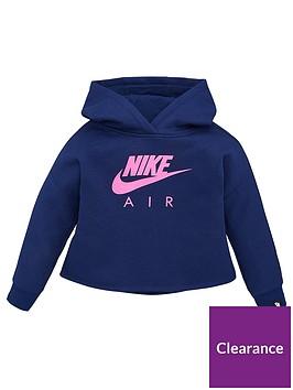nike-sportswear-air-younger-girls-overhead-hoodie-blue