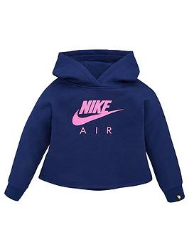 Nike Nike Sportswear Air Younger Girls Overhead Hoodie - Blue Picture