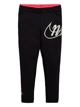 Nike Nike Sportswear Younger Girls Leggings - Black Picture