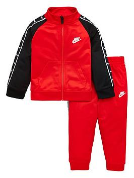 Nike Nike Sportswear Toddler Boys Swoosh Taped Tricot Tracksuit - Red/Black Picture