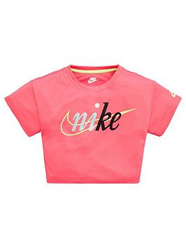 Nike Nike Sportswear Younger Girls Cropped T-Shirt - Pink Picture