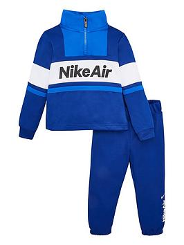 Nike Nike Sportswear Air Younger Boys 1/2 Zip Tracksuit - Blue Picture