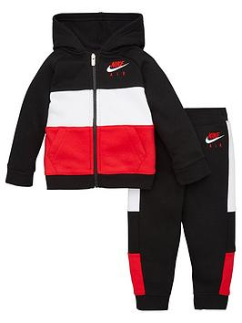 nike-sportswear-air-toddler-boys-full-zip-hooded-tracksuit-jogger-set-blackred
