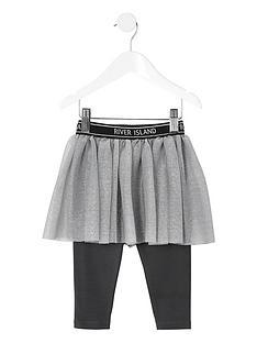 river-island-mini-mini-girls-ri-active-tutu-skirt-leggings-grey