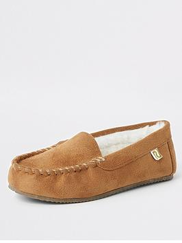 river-island-boys-moccasin-slipper-brown