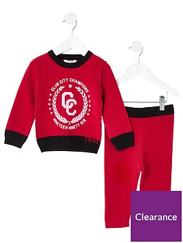 river-island-mini-mini-boys-printed-knitted-outfit-red