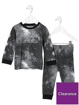 river-island-mini-mini-boys-galactic-pyjama-set-black