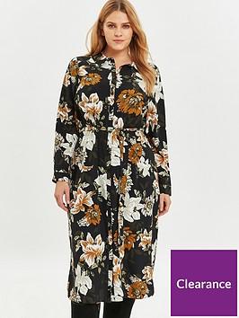 evans-floral-woven-shirt-dress-black