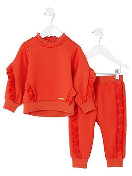 river-island-mini-mini-girls-frill-sweatshirt-outfit-red