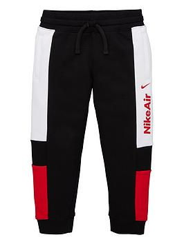 Nike Nike Sportswear Air Younger Boys Joggers - Black/Red Picture