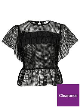 river-island-girls-mesh-frill-t-shirt-black