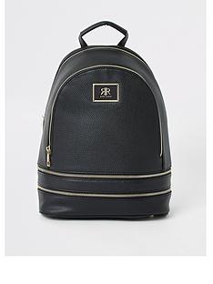 river-island-zip-around-backpack-black