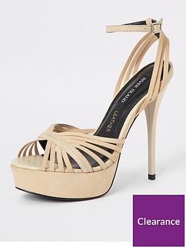 river-island-river-island-leather-strappy-platform-heel-sandals-cream