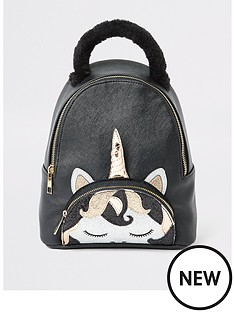river-island-girls-unicorn-backpack-black