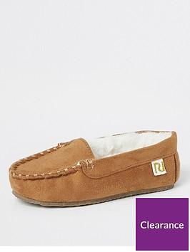 river-island-mini-mini-boys-moccasin-slipper-brown