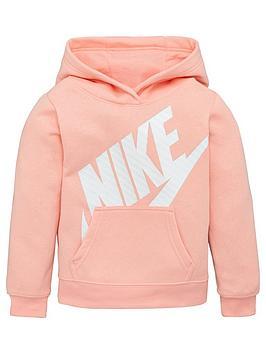 nike-sportswear-younger-girls-futura-overhead-hoodie-coral
