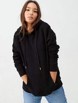 V by Very V By Very The Essential Oversized Hoodie - Black Picture