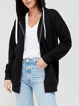 V by Very V By Very The Essential Zip Through Hoodie - Black Picture