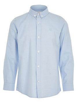 River Island River Island Boys Long Sleeve Twill Shirt-Blue Picture
