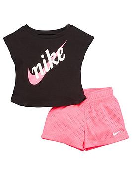 Nike Nike Sportswear Toddler Girls Script Futura Shorts Set - Pink Picture