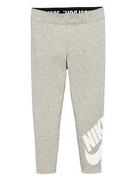 Nike Nike Sportswear Younger Girls Leg-A-See Leggings - Grey Heather Picture