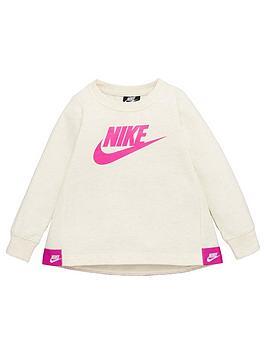 Nike Nike Sportswear Younger Girls Futura Crew Neck Sweat - Cream Picture